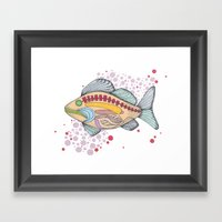 Fish Anatomy Framed Art Print