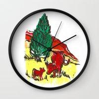 Big Moo, Wee Moo (colore… Wall Clock