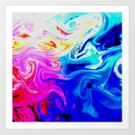 Swirly Pastels Art Print