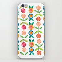 Water colour flowers iPhone & iPod Skin