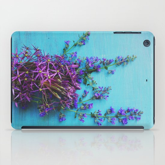 She Found Stray Flowers and Brought Them Home iPad Case
