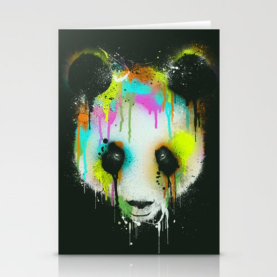 Technicolour Panda Stationery Card