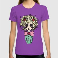 Ms Meow Womens Fitted Tee Ultraviolet SMALL