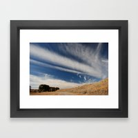 Rode to Blue Sky Framed Art Print
