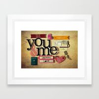 Collage Love - You & Me Framed Art Print