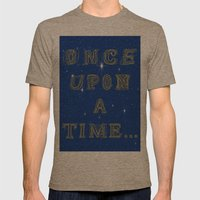 Fairy Tale Beginnings Mens Fitted Tee Tri-Coffee SMALL