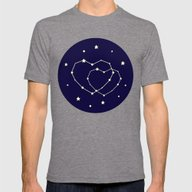 Star Lovers Mens Fitted Tee Tri-Grey SMALL