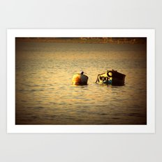 boat in the water Art Print
