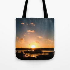 Sun is Going Down Tote Bag
