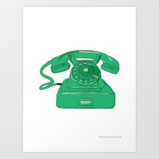 Ringing on the telephone... Art Print
