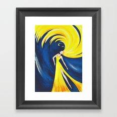 Wave girl Framed Art Print