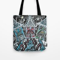 Christmas Snow Village O… Tote Bag