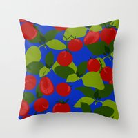 Tomato Basil Pattern Throw Pillow