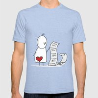 I Love You... A Lot. Mens Fitted Tee Tri-Blue SMALL