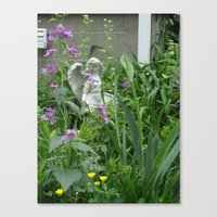 Canvas Print featuring garden angel 3 by Joy Reyes