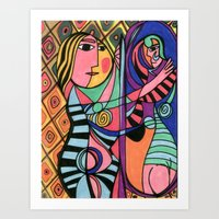 Lady in the Mirror Art Print