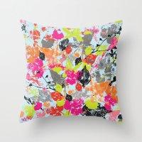 Neon Wilderness  Throw Pillow