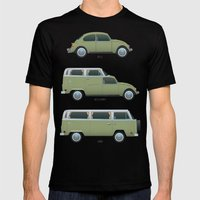 Beetle Camper Mens Fitted Tee Black SMALL