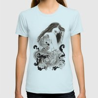 The Dragon's Gate Womens Fitted Tee Light Blue SMALL