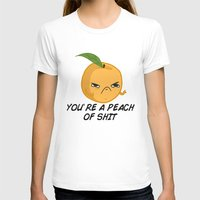 Sour food puns - Youre a Peach of sh*t Womens Fitted Tee White SMALL