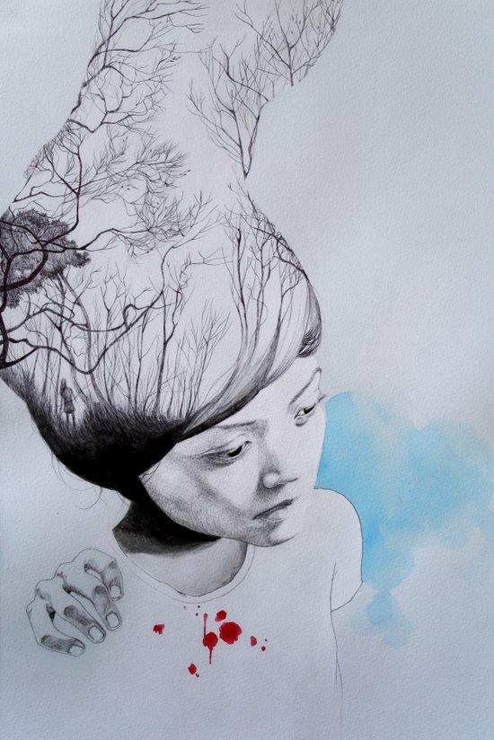 Hidden trees Art Print