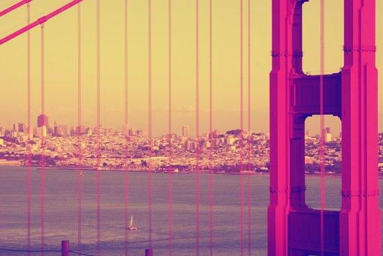 Golden Gate Into San Francisco Canvas Print