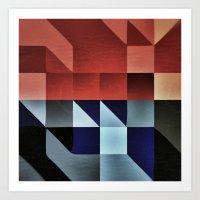 :: Geometric Maze IX :: Art Print