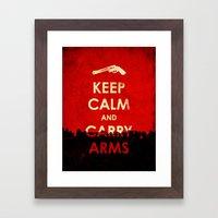 Keep Calm And Carry Arms… Framed Art Print