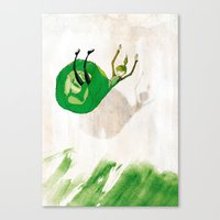 Lettuce Woman Canvas Print