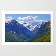 Art Print featuring Mountains II. by Assiyam