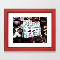 not-made-in-china Framed Art Print