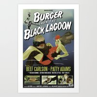 Burger From the Black Lagoon Art Print