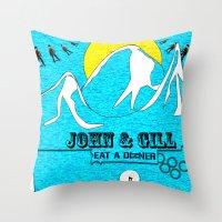 Jonh And Mayer Throw Pillow