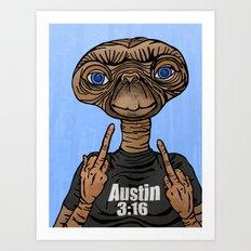 Stone Cold E.T.  Art Print
