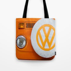 Volkswagen Orange Tote Bag