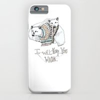 iPhone & iPod Case featuring i will keep you warm by MEERA LEE PATEL