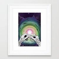Rollup get creative Framed Art Print