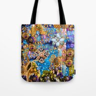 Tote Bag featuring Gold, Glitter, Gems And … by Joke Vermeer