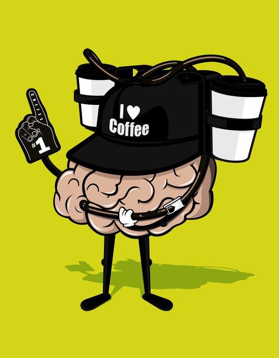He loves coffee a lot!!!! Art Print