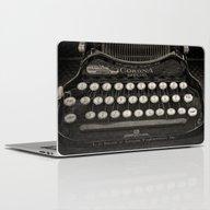 Old Typewriter Keyboard Laptop & iPad Skin
