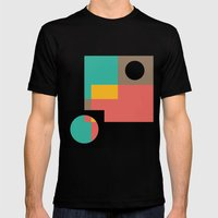 Geometric Crazy 1 Mens Fitted Tee Black SMALL