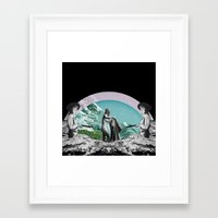 Framed Art Print featuring Memory Pools by Katty Bouthier