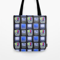 TV Pattern Tote Bag
