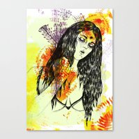 Tribal Beauty 3 Canvas Print