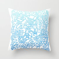 Wave Machine Throw Pillow