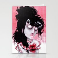 Bleeding-Hearted Stationery Cards