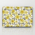 Daffodil Daze - yellow & grey daffodil illustration pattern iPad Case