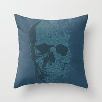 Melodic Skull Throw Pillow