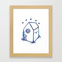 Happy House Framed Art Print