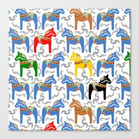 Dala Horse pattern Canvas Print